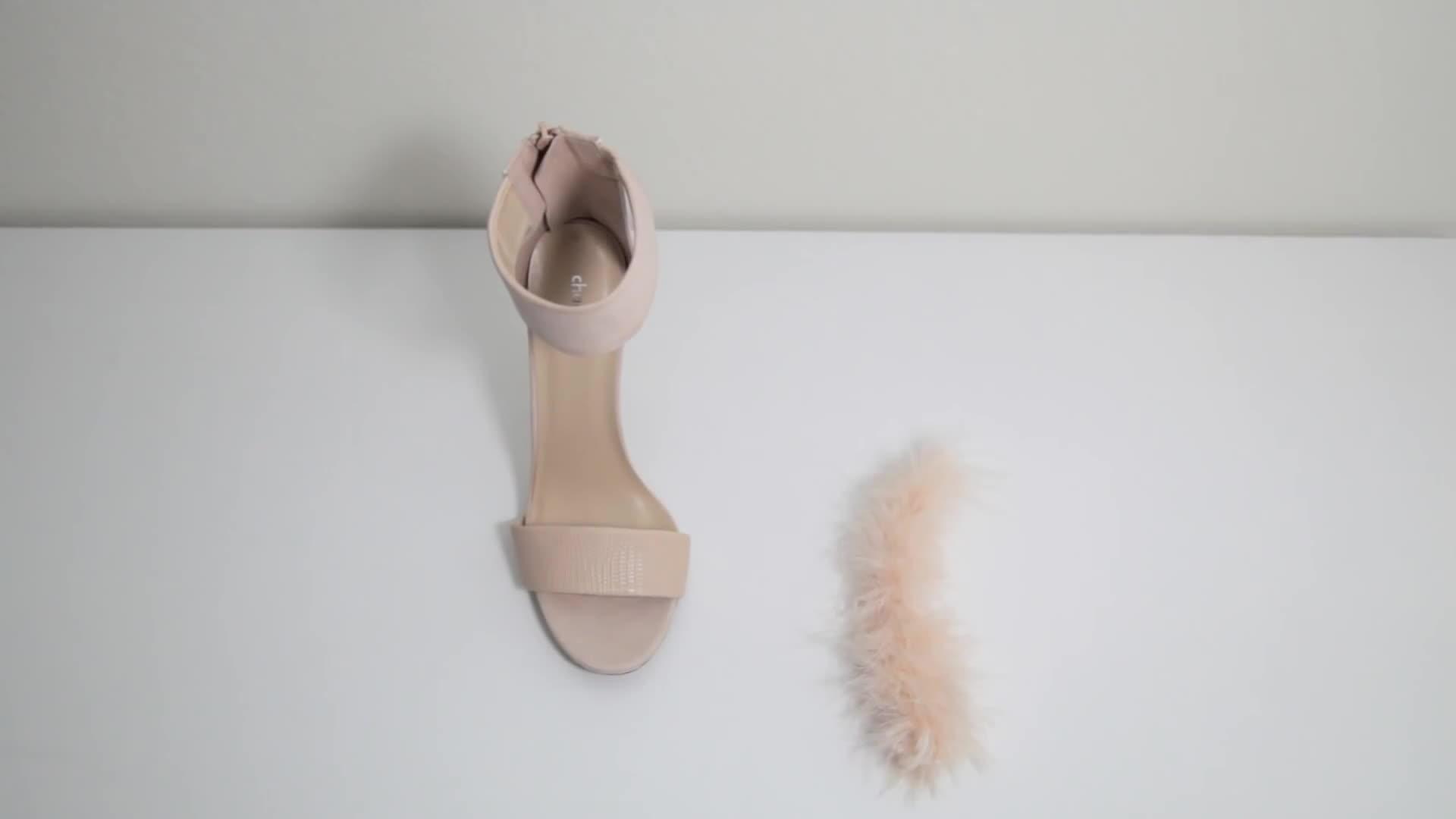 Tự tay đính lông lên giày cao gót, bạn có dám thử?