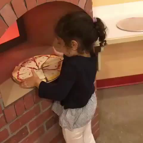 funny, fall, kid, Kid failing at food service GIFs