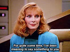 Watch and share Beverly Crusher GIFs and Jean Luc Picard GIFs on Gfycat