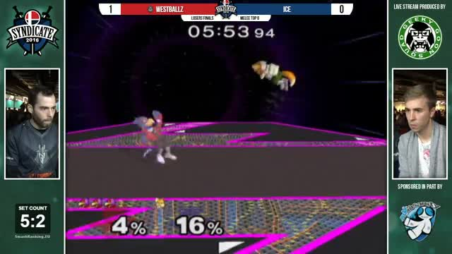 Syndicate - G2 | Westballz (Falco) Vs. Ice (Fox) - Losers Finals - Melee