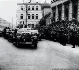 Watch Adolf Hitler in Austria, 1938. GIF on Gfycat. Discover more 1938, adolf hitler, austria, fuhrer, gif, gifset, history, hitler, my gif, my post, nazi, nazi germany, third reich GIFs on Gfycat
