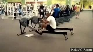 Watch and share Rowing Machine Fail GIFs on Gfycat