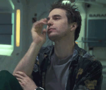 2009, bye, goodbye, moon, sam rockwell, see ya, wave, waving, Sam Rockwell Bye GIFs