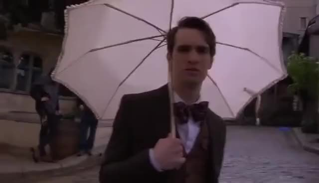 Watch Manly Umbrella GIF on Gfycat. Discover more Brendon Urie, Panic  ! at the disco, Umbrella GIFs on Gfycat