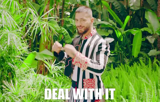 Watch this curated GIF by GIF GIF Baby (@gifgifbaby) on Gfycat. Discover more cool, costume, deal, dude, garden, gims, glasses, hola, it, jungle, life, maluma, maria, senorita, sing, smile, stripes, sunglasses, thug, with GIFs on Gfycat