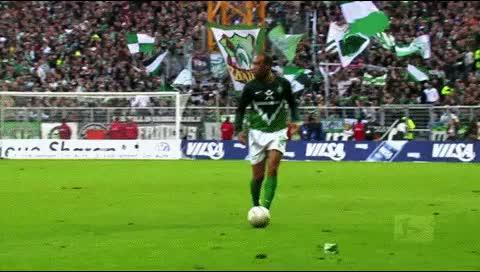 Watch and share Aaron Hunt. Werder Bremen - Freiburg. 2010-11 GIFs by fatalali on Gfycat