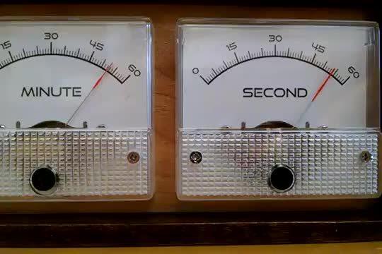 diy, Vu Meter Clock GIFs