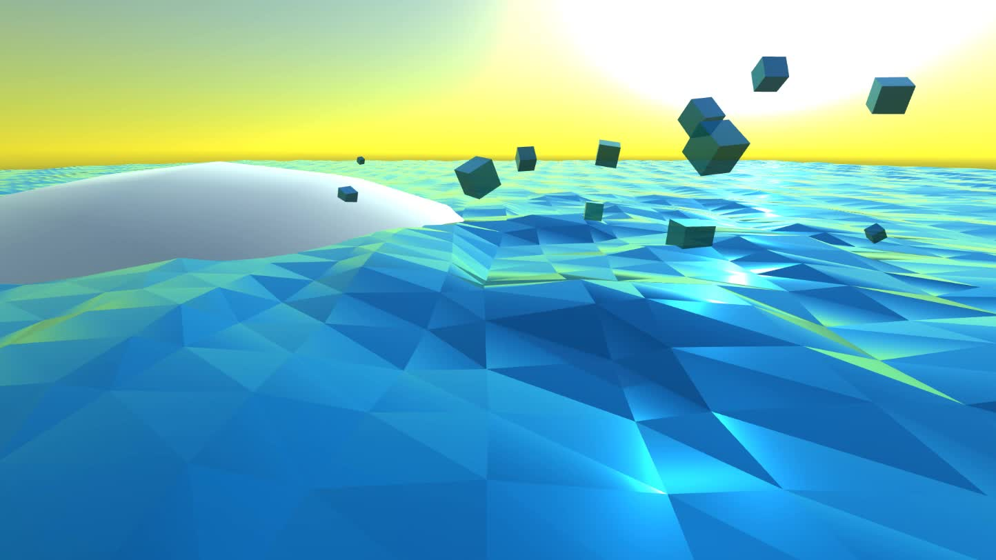 ▷ Polywater - Unity water shader GIF by ro9amr - Find