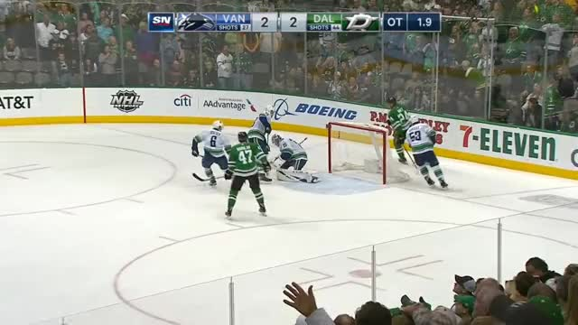 Watch and share Vancouver Canucks GIFs and Dallas Stars GIFs by Beep Boop on Gfycat