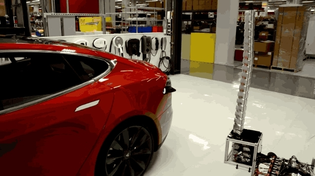 Prehensile Robot Snake Will Sniff Out And Charge Your Tesla Car