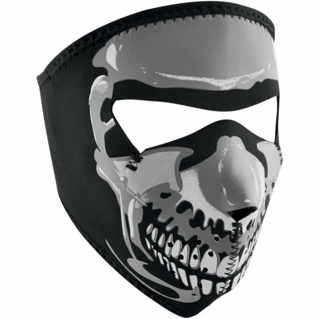 Watch and share FACE MASK GLOW SKULL SML GIFs on Gfycat