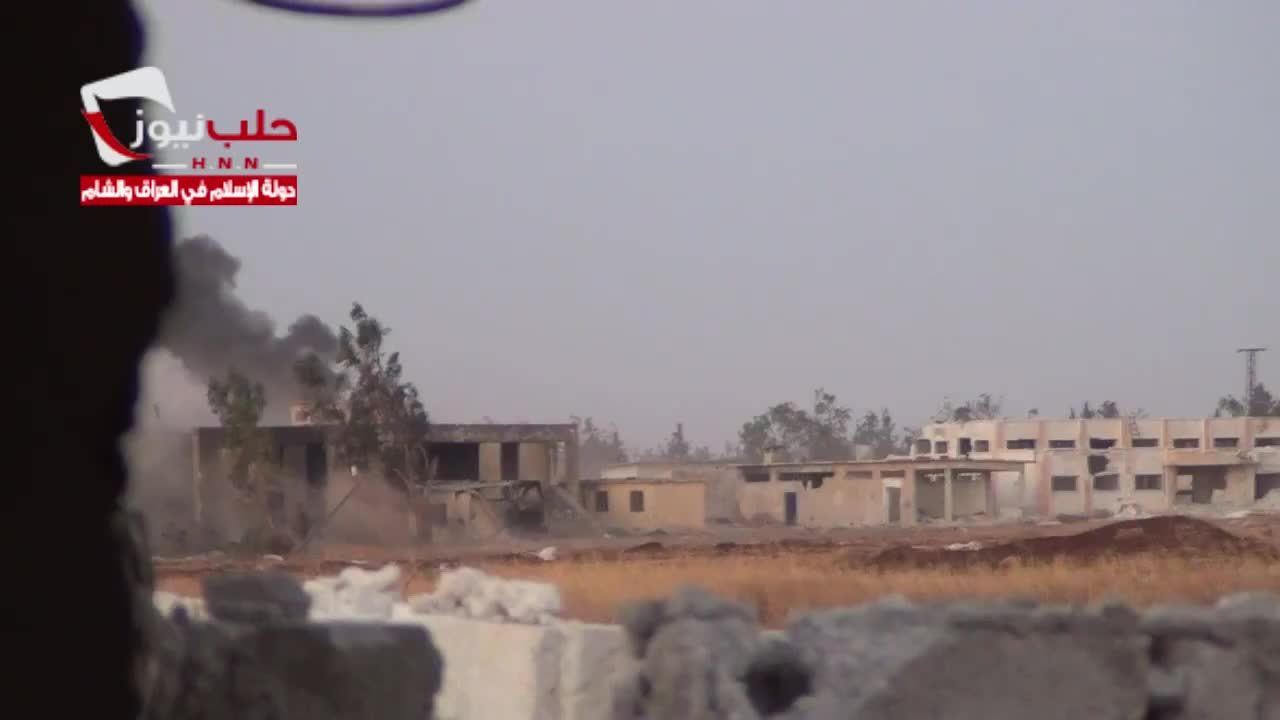 combatfootage, ISIS car bomb attack on Meng military airport, Syria GIFs