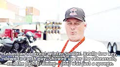 Watch realchemistry. GIF on Gfycat. Discover more AT ALL, Aaron Toney, Anthony Mackie, Captain America, Captain America: The Winter Soldier, Captain America: gifset, Chris Evans, Christopher Markus, Evanstan, Happy Birthday!, I swear the CBR interview upsets me so much, James Young, Scarlett Johansson, Seb and Anthony, Seb and Chris, Seb and Scarlett, Seb's amazing so I thought everyone giving him praise would be a nice little thing to do, Sebastian Stan, Stackie, Stephen McFeely, Thomas Robinson Harper, but I couldn't get them for different reasons, but OMG, he knows his Bucky, realchemistry, so I need someone to tell Stephen and Chris that Seb's performance was not a coincidence, so this is it for now, the interviewer totally did not get what Seb said, there were so many more I wanted to include GIFs on Gfycat