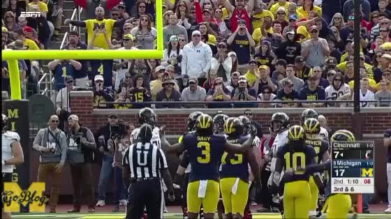 Watch and share Luke Fickell GIFs and Rashan Gary GIFs by MGoBlog on Gfycat