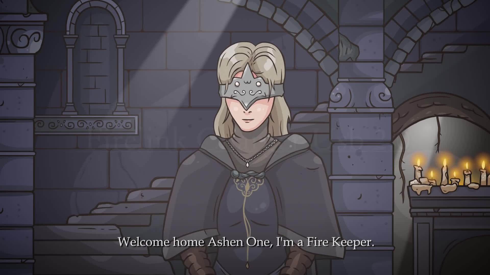Dark Souls Fire Keeper Before This I Was A Character On Dead