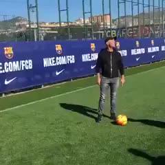 Watch and share Funny Football - TEKKERS: Lionel Messi Casually Scoring From Behind The Goal In Barcelona Training. GIFs on Gfycat