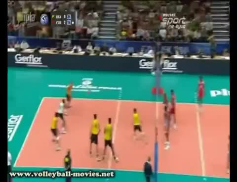 Watch and share Block Volleyball GIFs on Gfycat