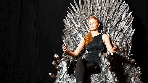 Sansa stark, Sophie turner, game of thrones, gameofthrones, sophieturner, stark, throne,  GIFs