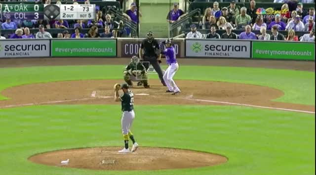 Watch and share Colorado Rockies GIFs and Baseball GIFs by sporer on Gfycat