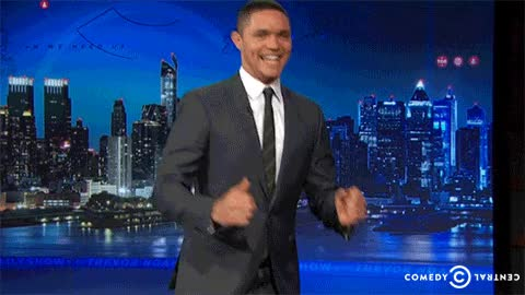 Watch and share Trevor Noah GIFs and Excited GIFs by Reactions on Gfycat
