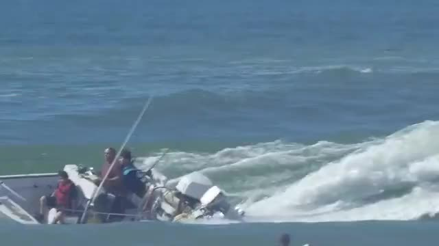 Watch and share Surfers Save Kids After Boating Accident GIFs on Gfycat