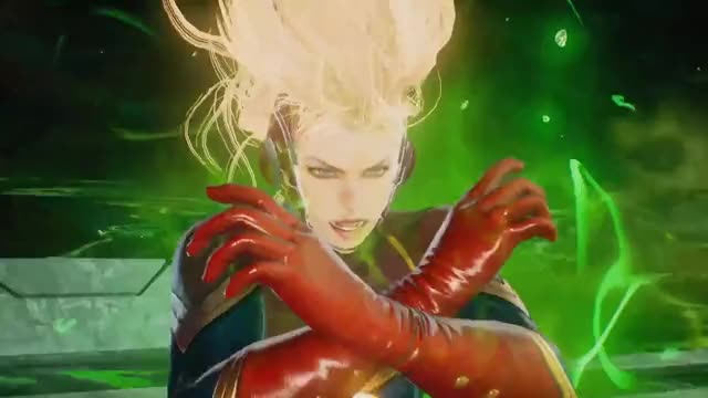 Watch this captain marvel GIF on Gfycat. Discover more brie larson, capcom, captain marvel, carol danvers, gameplay, infinite, iron man, marvel, marvel cinematic universe, marvel vs capcom, marvel vs capcom 4, mcu, mega man x, ryu GIFs on Gfycat