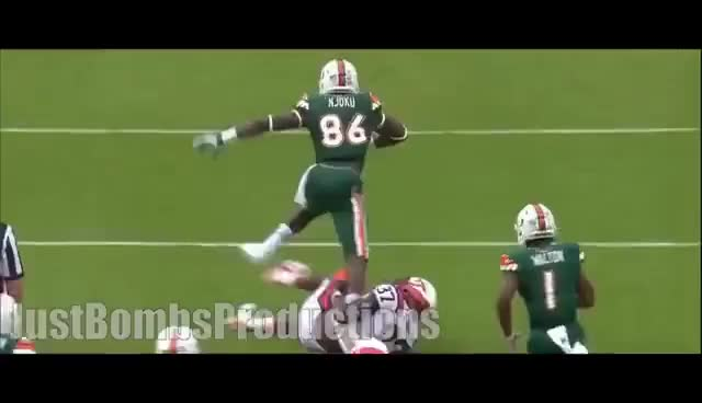 Watch Miami Tight End David Njoku Highlights ᴴᴰ GIF on Gfycat. Discover more related GIFs on Gfycat