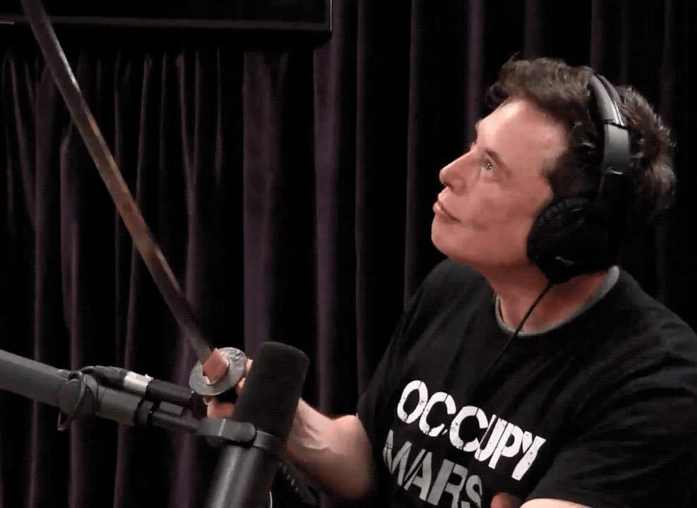 celebs, elon musk, elonmusk, Elon samurai sword GIFs