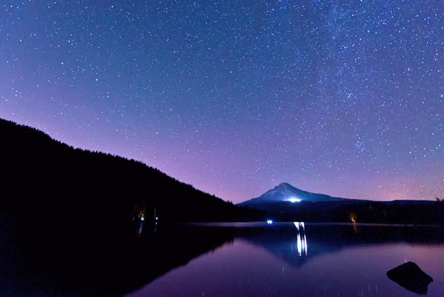 Watch and share Star Trails Over Mount Hood GIFs by mattpayne11 on Gfycat