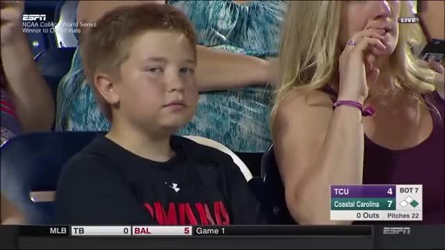 Epic camera stare down at Baseball game GIF by (@fcragan