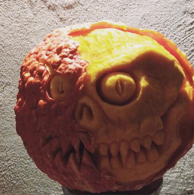 Watch and share The Pumpkin I Carved Looked Scarier As It Decomposed GIFs on Gfycat