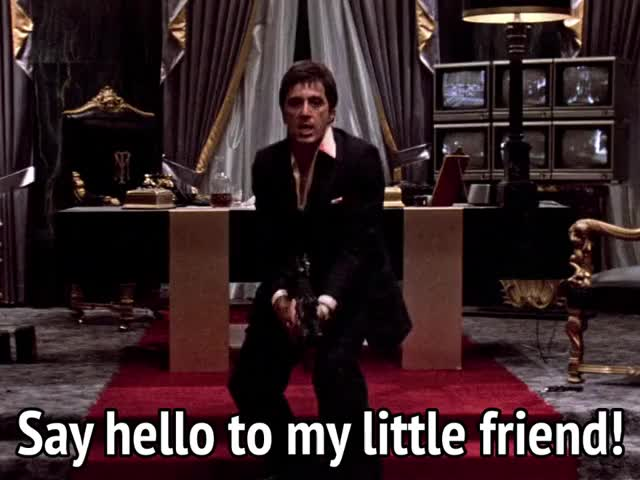 Watch and share Al Pacino GIFs and Scarface GIFs by MikeyMo on Gfycat