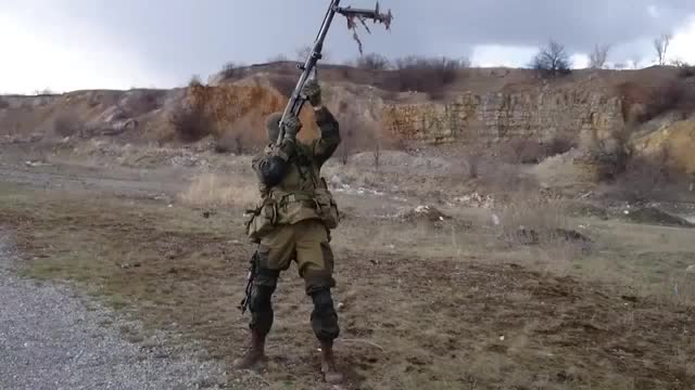 Watch and share Donbass Militiaman Fires A PTRS-41 14.5×114mm Anti-material Rifle. GIFs on Gfycat