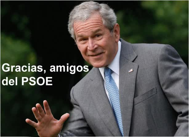 Watch and share ANIMADO Bush Da Las Gracias Al PSOE GIFs on Gfycat