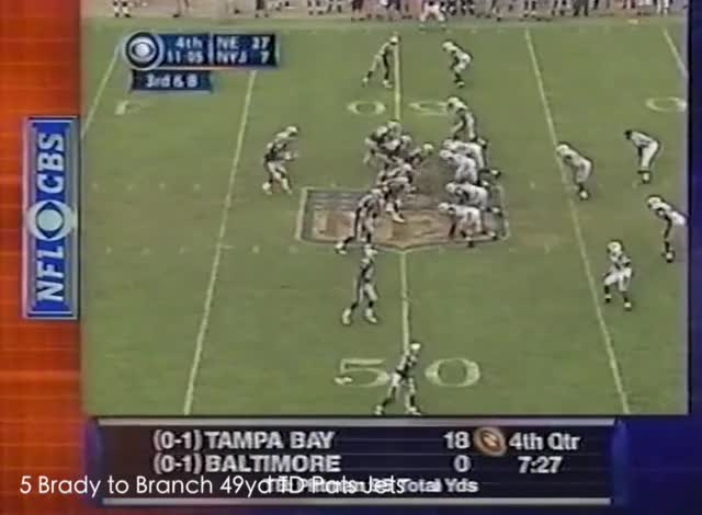Watch and share Tom Brady TDs 2002 GIFs by Leo Spaceman on Gfycat