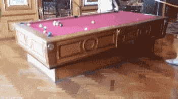 A Snooker Table Used on the Ship with Self Balancing Function. GIFs