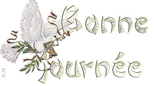 Watch and share Bonne Journée - Colombe - Gif Scintillant - Gratuit animated stickers on Gfycat