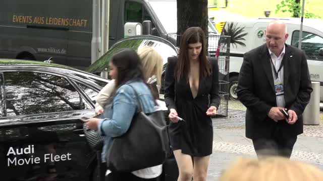 alexandra Daddario teasing fans with her flawless titty banging cleavage