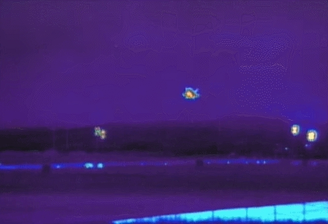 SpaceGfys, spacegfys, Landing of X-37B in Thermal GIFs