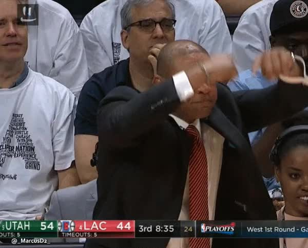 Watch and share Doc Rivers Traveling Reaction GIFs by MarcusD on Gfycat