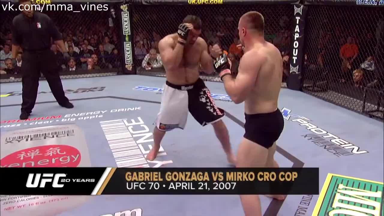 Gabriel Gonzaga KOs Mirko Crocop (April 21, 2007)