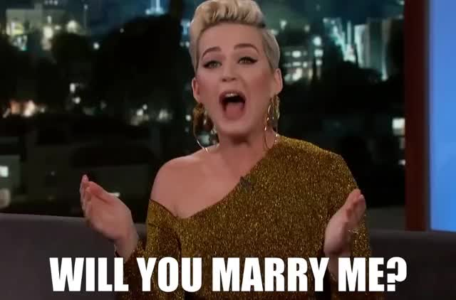 Watch this katy perry GIF by The GIF Farmer (@giffarmer) on Gfycat. Discover more bloom, engaged, engagement, jimmy, katy, kimmel, lol, loud, marry, me, orlando, out, perry, proposal, propose, scream, shout, will, yell, you GIFs on Gfycat