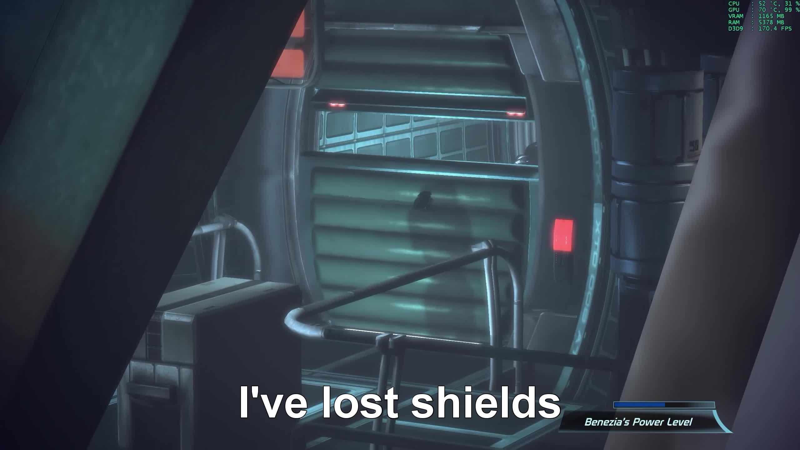 gamephysics, glitch, mass effect, I've lost shields GIFs
