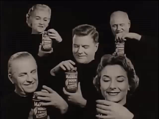 Watch Coffee Jars (1950s) Gif: Marc Rodriguez. GIF by Marc Rodriguez (@marcrodriguez) on Gfycat. Discover more 1950s, Marc Rodriguez, coffee, coffee time, funny, funny commercial, happy, heads, jars, lids, lol, more coffee, morning coffee, need coffee, open, rofl, smile, vintage, vintage ad, vintage gif GIFs on Gfycat