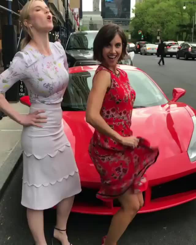 Watch this alison brie GIF by Unsurprised (@unsurprised) on Gfycat. Discover more alison brie, alisonbrie, betty gilpin, bettygilpin, car, celeb, celebs, enzo, ferrari, glow, netflix, nyc, sports car, sportscar, wrestling GIFs on Gfycat