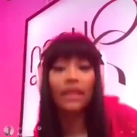 Nicki Minaj IG Live