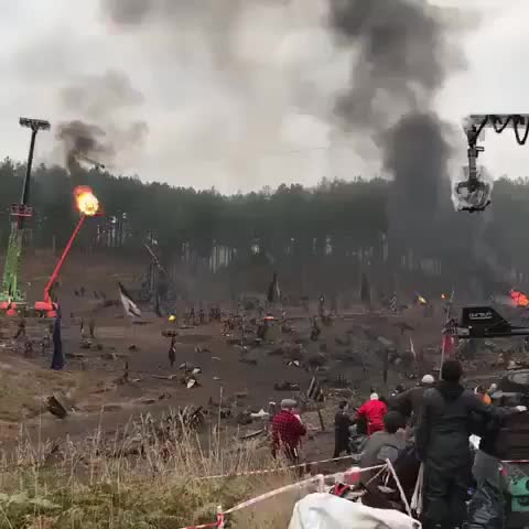 Behind the scenes of epic battle. GIFs