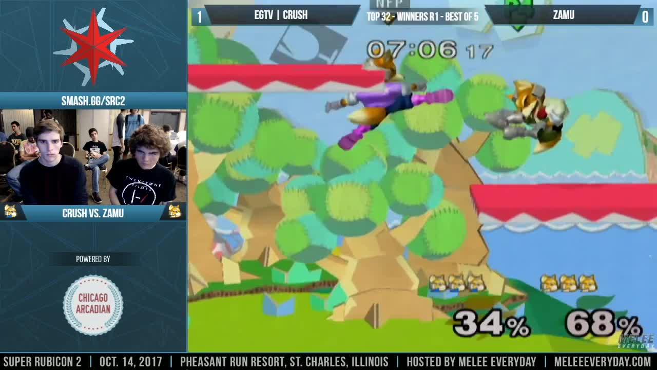 melee ssbm crush zamu fox smash, The Crush-O peek GIFs