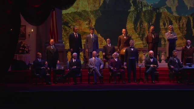 Watch and share Trump Hall Of Presidents01 GIFs on Gfycat