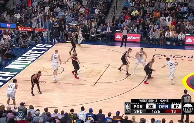 Gary Harris reverse lay in replays included